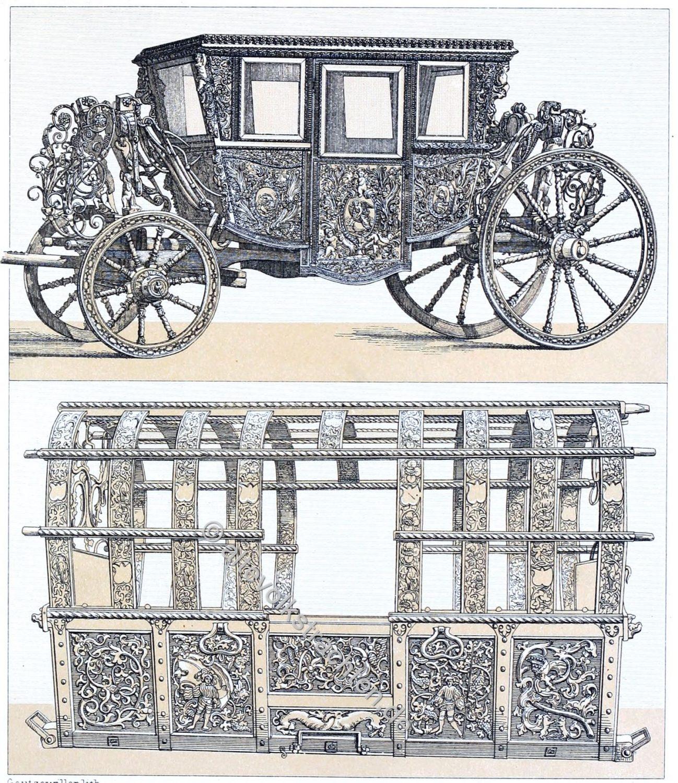 Transportwagen, Kutschen, Karossen, Barock, Renaissance,