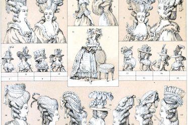 Rokoko, Frisuren, Hüte, Mode, Kostüme, deshabillé, Marie Antoinette,
