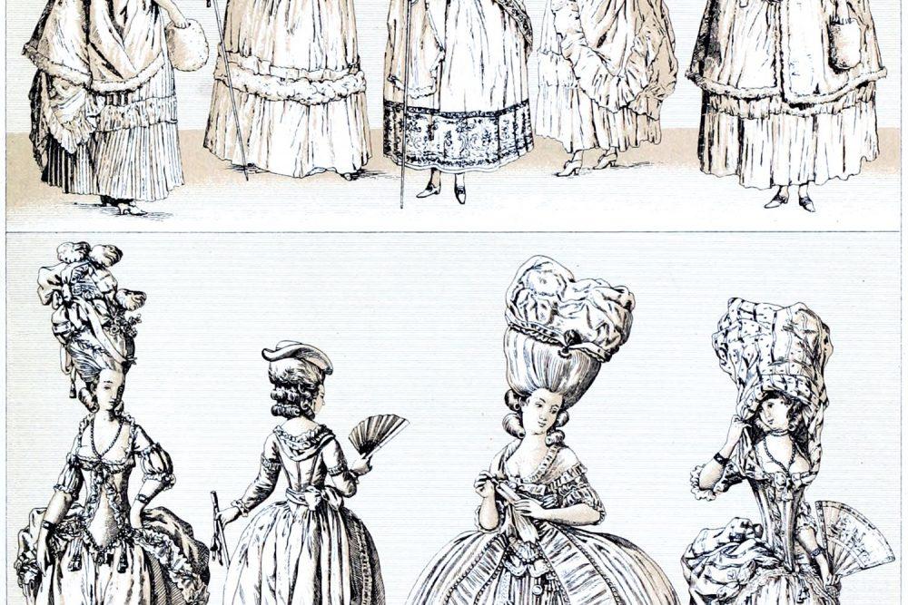 Rokoko, Mode, Marie Antoinette, Frauentrachten, Frisuren