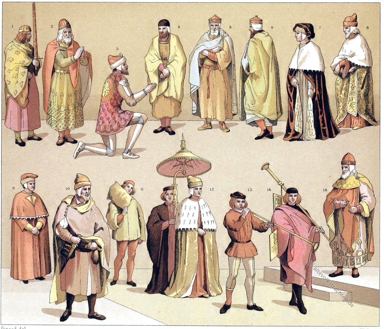 Venedig, Italien, Dogen, Doge, Kleidung, Ornat, Kultur, Auguste Racinet,