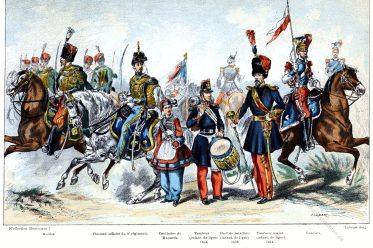 Frankreich, Armee, Uniformen, Tambourmajor, Husaren, Infanterie, Zweites Reich,