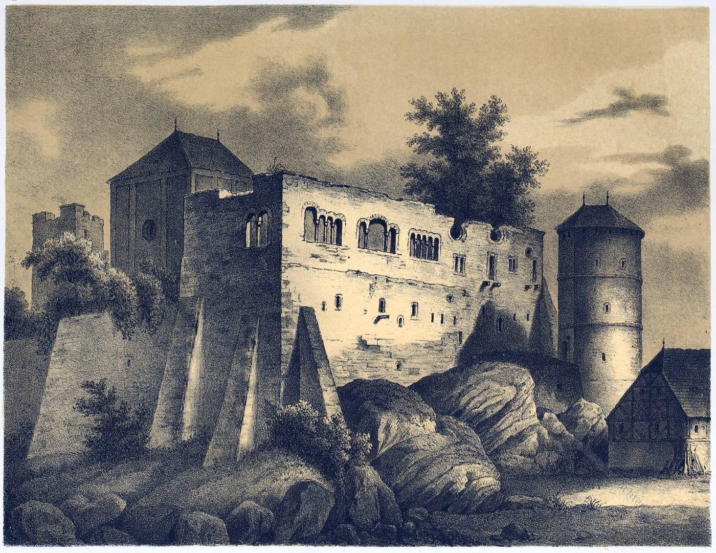 Burg, Eger, Cheb, Kaiserpfalz, Burganlage, Festungsanlage, Tschechien