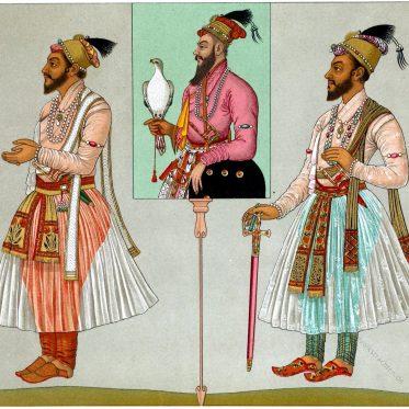 Kleidung indischer Mogulkaiser. Fürst der Radschputen.