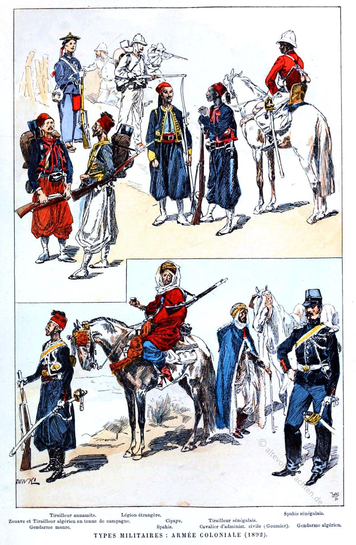 Frankreich, Waffengattungen, Fremdenlegion, Kolonial, Armee, Soldaten, Uniformen,