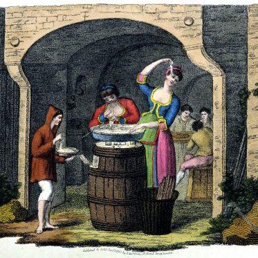 Neapolitanische Makkaroni. Italienische Sitten und Gebräuche 1809.