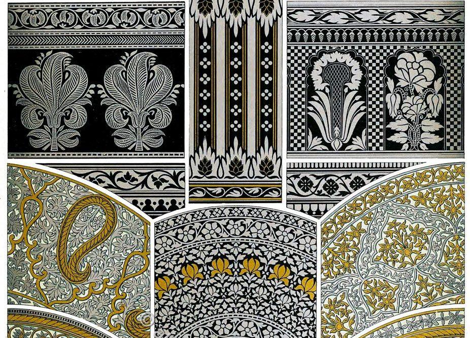 Racinet, Niellos, Dekoration, Technik, Stil, Kunsthandwerk, Indien,