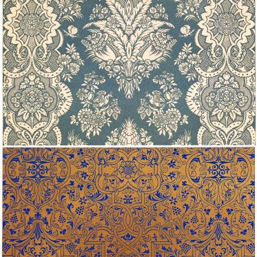 Design eines Seidenmusters auf der Grundlage persischer Ornamentik.