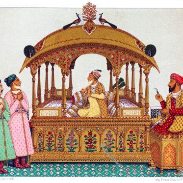 Ein Palankin. Tragbarer Thron der indischen Mogul Kaiser.