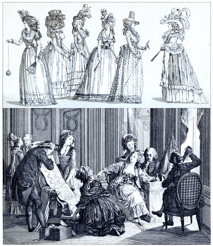 Rokoko, Morgentoilette, Mode, Kostüme, Caraco