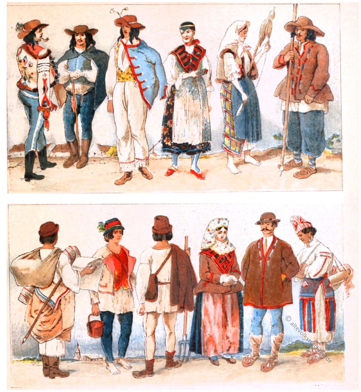 Donaumonarchie, Ethnie, Österreichisch-Ungarische Monarchie, Tracht, Ungarn, Volkskunde