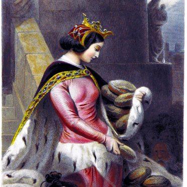 Die Heilige Bertha von Bingen. Die christlichen Gnaden in alten Zeiten.