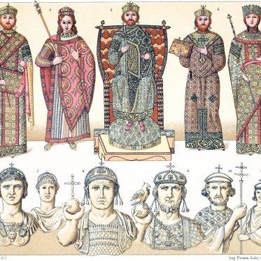 Ornat der byzantinischen Kaiser und Kaiserinnen. Kaiserbildnisse.