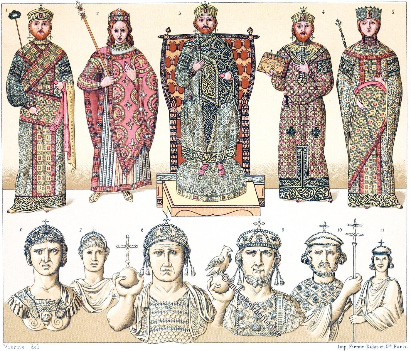 Byzanz, Kaiser, Kaiserinnen, Ostrom, Ornat, Kostüme, Staatsbekleidung,