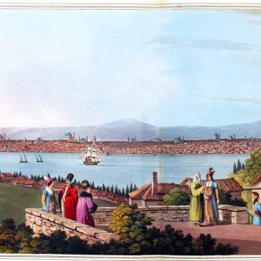 Blick auf Konstantinopel im Jahre 1810. Osmanisches Reich.