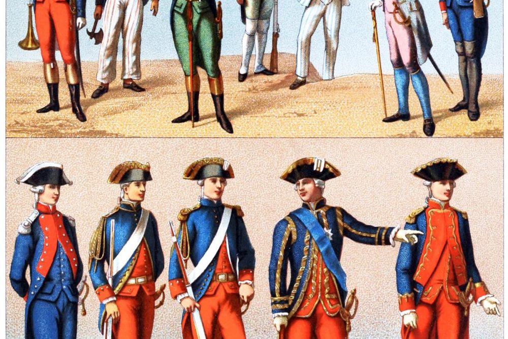 Frankreich, Uniformen, Marine, 18. Jahrhundert, königlich, royal, republikanisch