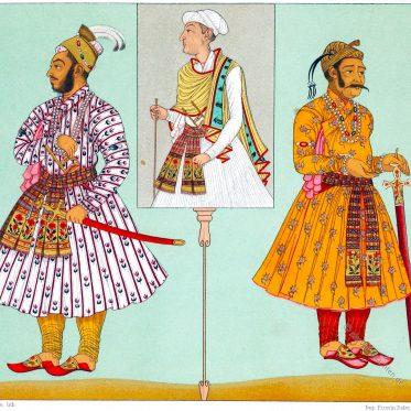 Hohe Würdenträger des Mogulreiches. Indien 17. Jahrhundert.