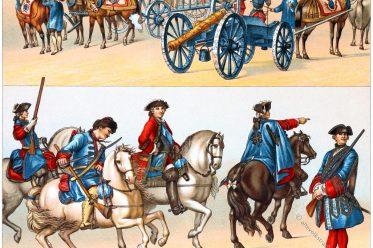 Musketiere, Uniformen, Gardetruppen, Feldartillerie, Frankreich