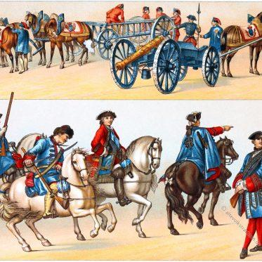 Musketiere des Königs. Uniformen der Gardetruppen.
