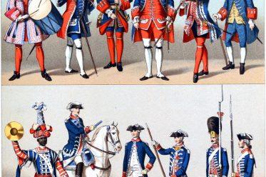 Uniformen, Frankreich, Schweizer Garden, Schweizergarden, Militär, Barock