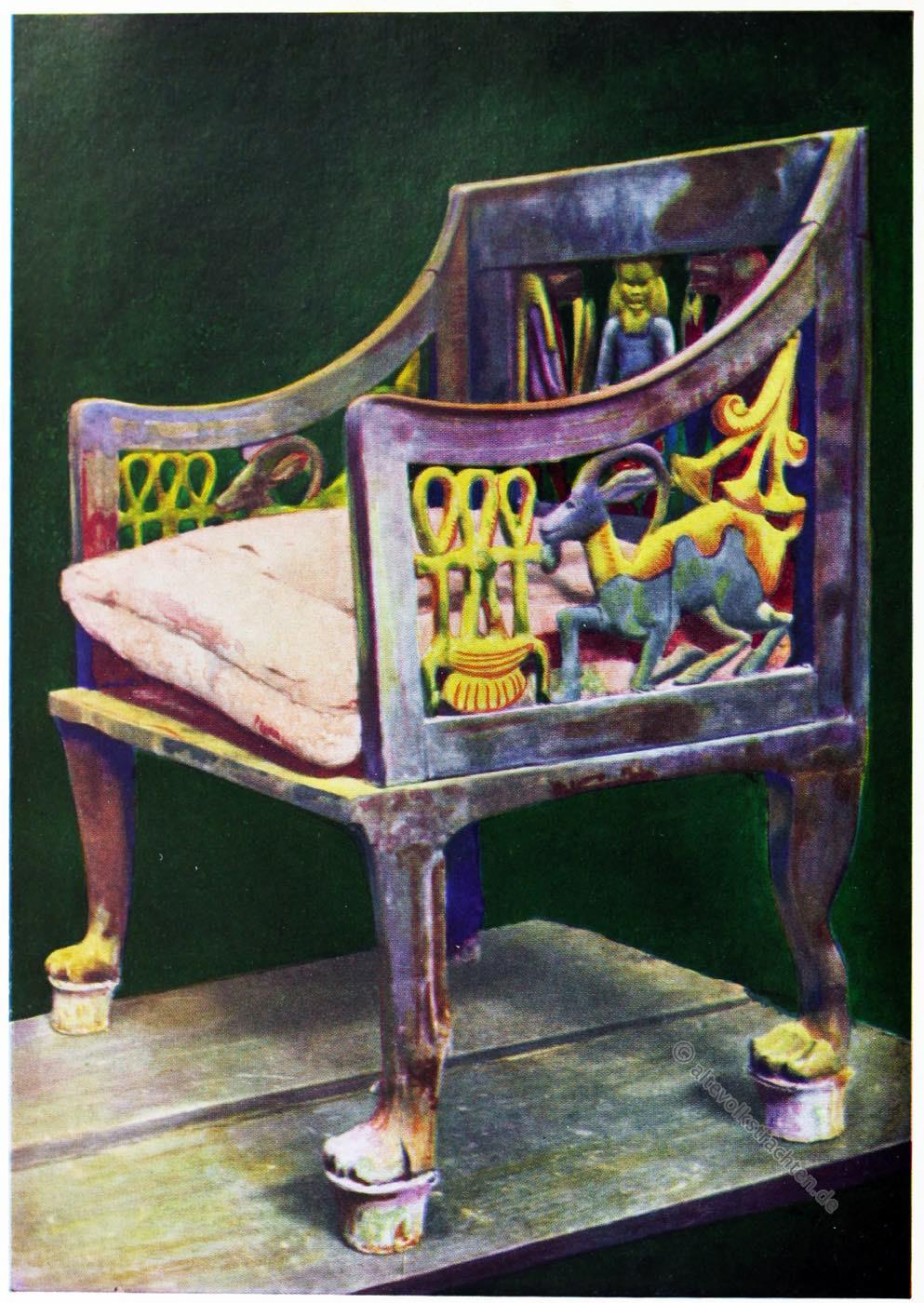 Ägypten, Stuhl, Antike, Tjuyu, Yuya