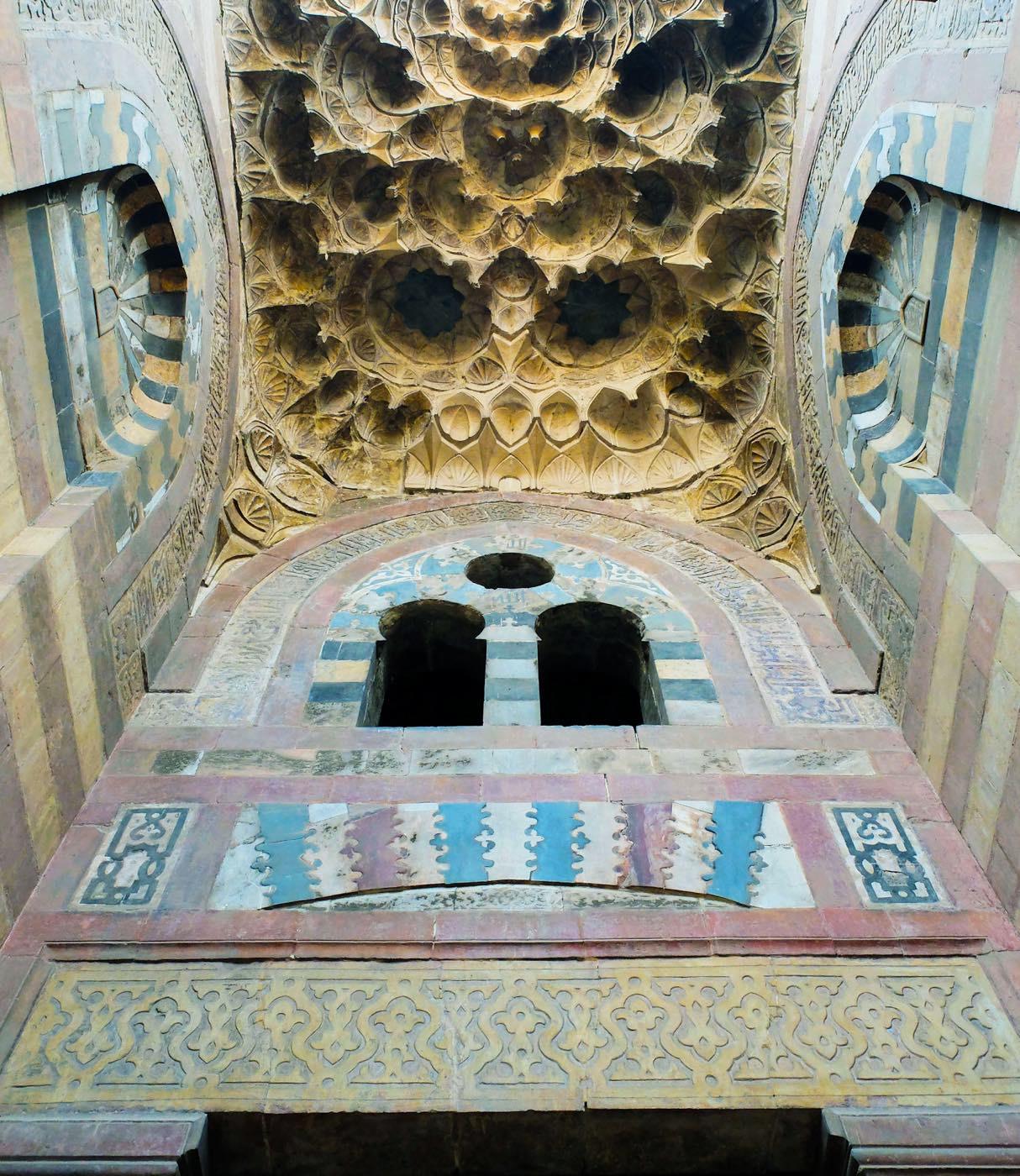 Eingangsportal, Madrasa, Moschee, Kairo, Umm al Sultan Sha'ban,