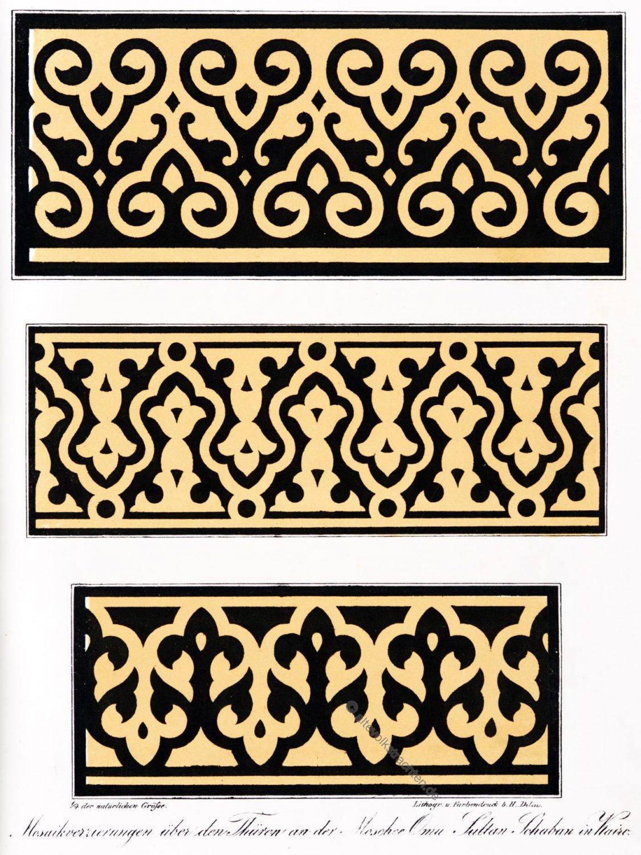 Mosaik, Verzierungen, Ornament, Umm al-Sultan, Shaaban, Moschee