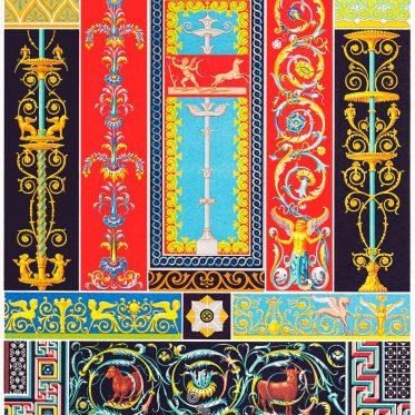 Griechisch-Römische Kunst. Mosaiken, Ornamente.