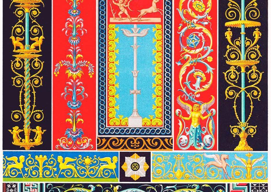 Pompeji, Herculaneum, Griechisch-Römisch, Ornamente, Kunst, Mosaiken, Flachreliefs