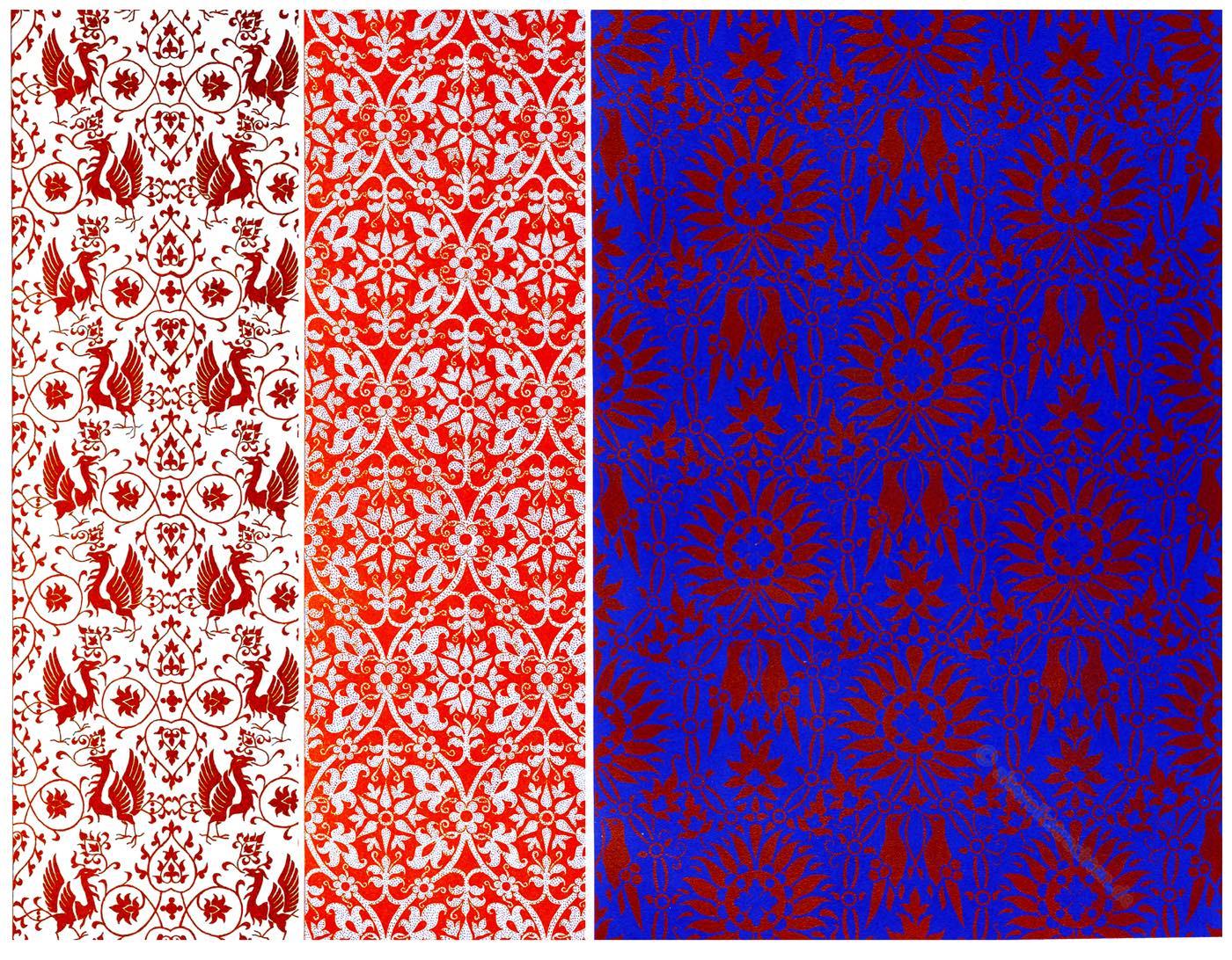Ornamente, Italien, Mittelalter, Textildesign, Orcagna, Andrea di Cione, Jacopo,