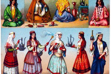 Hausangestellte, Persien, Iran, Dienerin, Kostüm, Bekleidung,