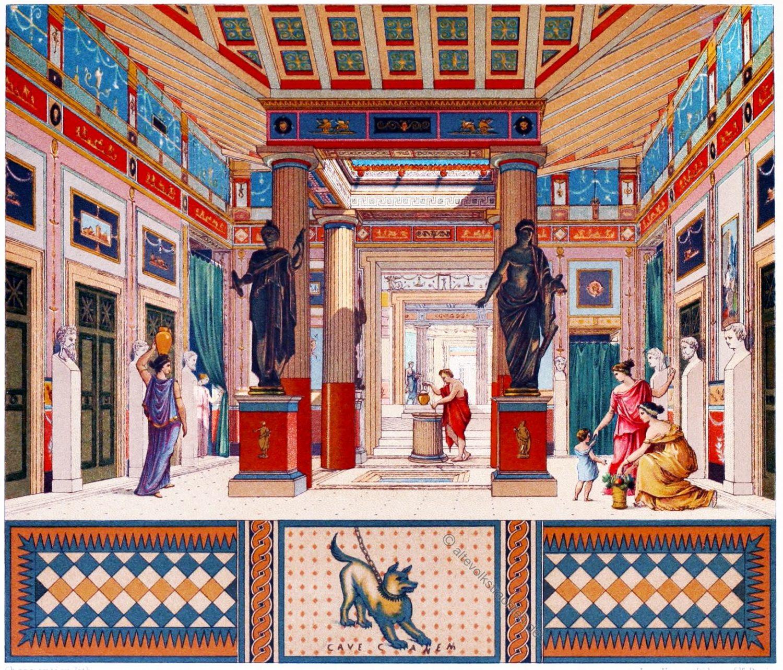 Pompejanische Haus, Pompeji, Pansa, Architektur, rom, römisch, Antike,