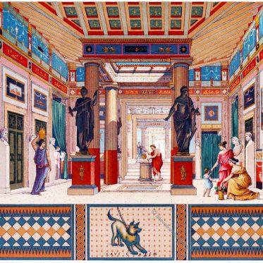 Pompeji. Typus der griechisch-römischen Wohnung.