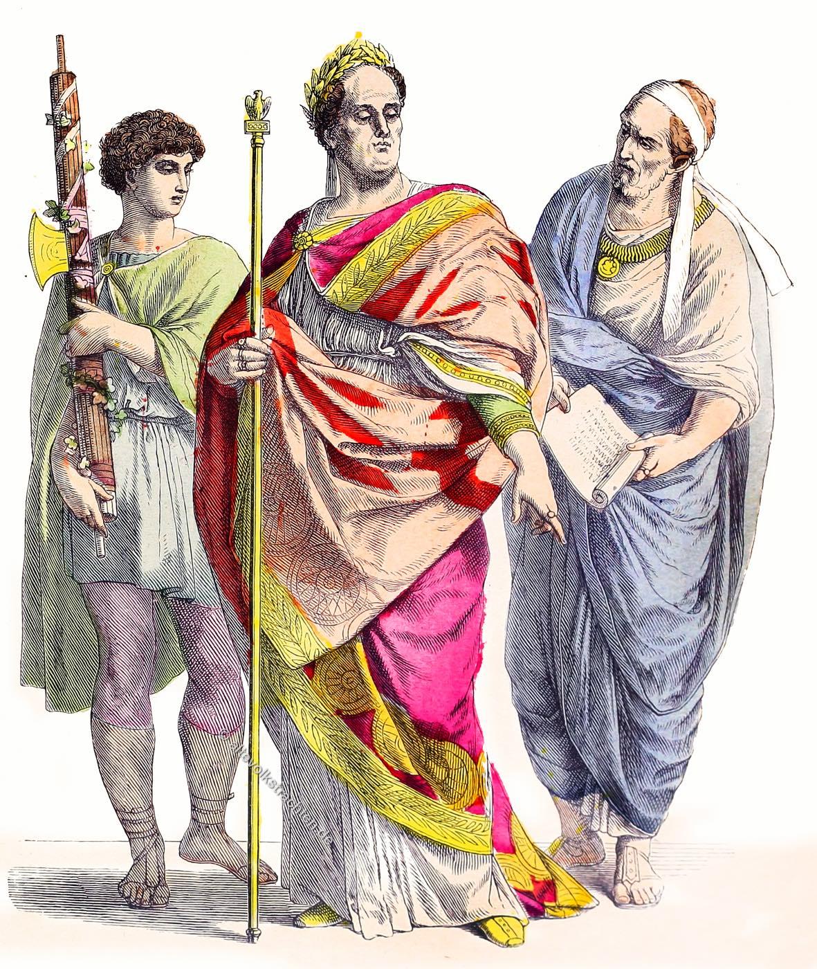 Lictor, Römischer Kaiser, Cäsar, Senator, Bekleidung, Kostüme, Münchener Bilderbogen
