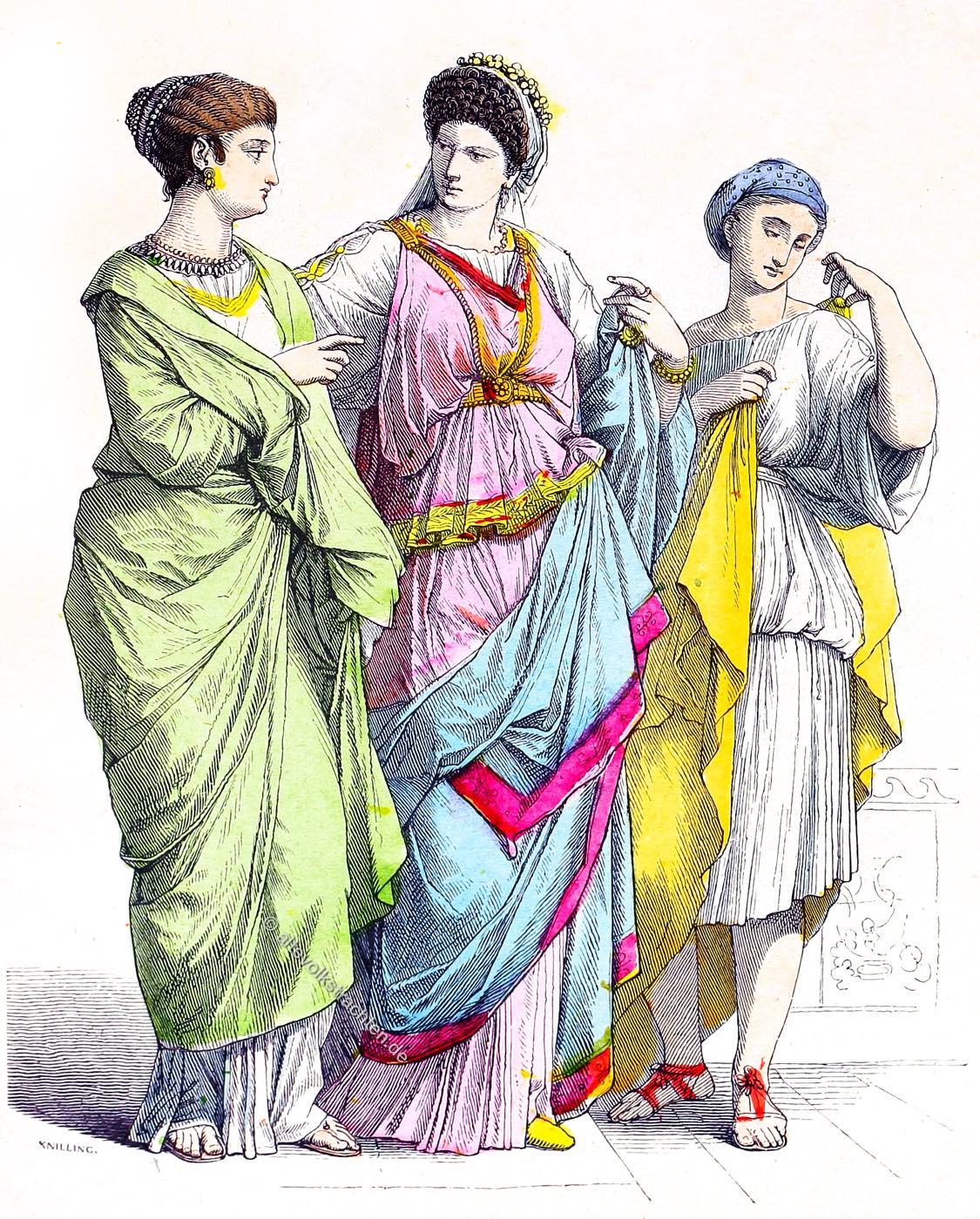 Römerinnen, Sklavin, Rom, Bekleidung, Kleidung, Kostüme, Antike,