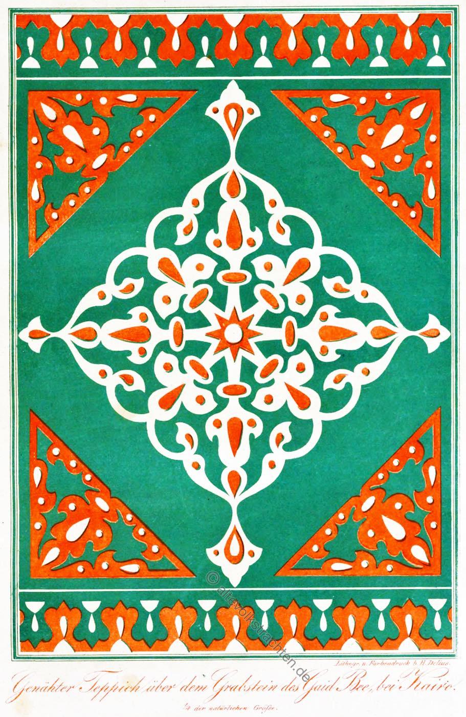 Teppich, Orientteppich, Ägypten, Design, Ornament, Sultan, Qaitbay