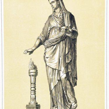 Die Vestalinnen. Priesterinnen der römischen Göttin Vesta.