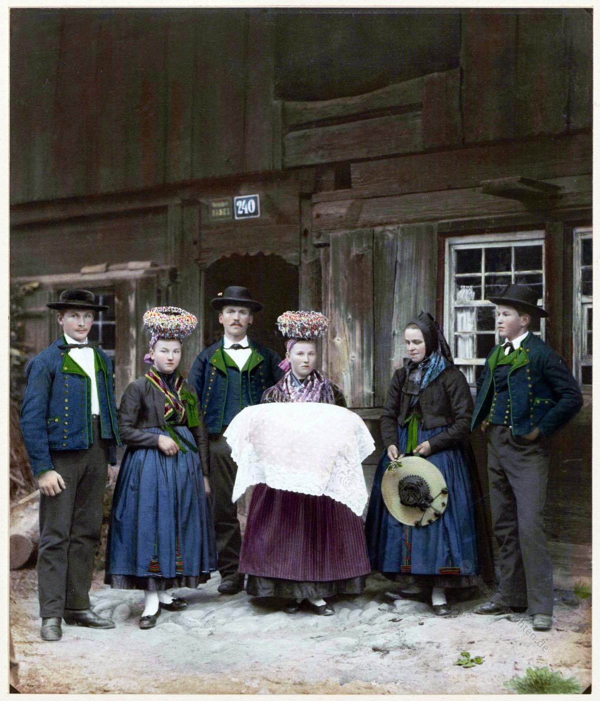Lehengericht, Kinzigtäler, Trachten, Wolfach, Volkstrachten, Schwarzwald, Baden,