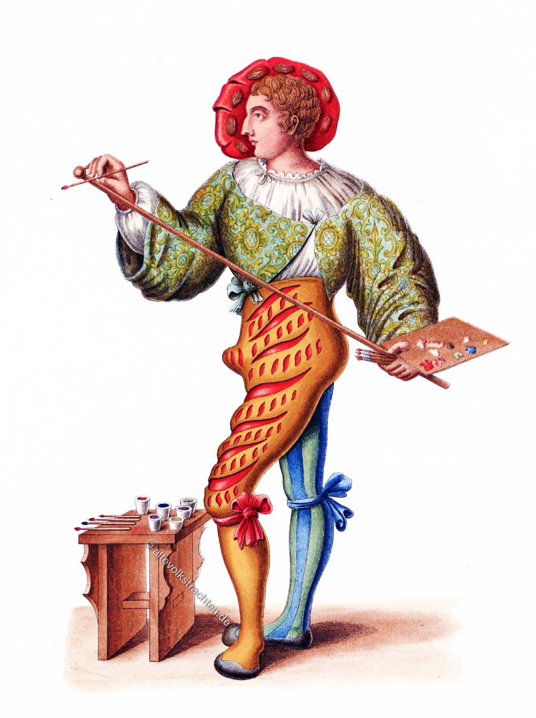 Maler, Niklaus Manuel, Hefner-Alteneck, Renaissnce, Kostüm, Bekleidung,