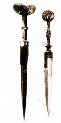 Ohrendolche, Italien, dague à oreilles, Mittelalter, Waffen, Dolch,