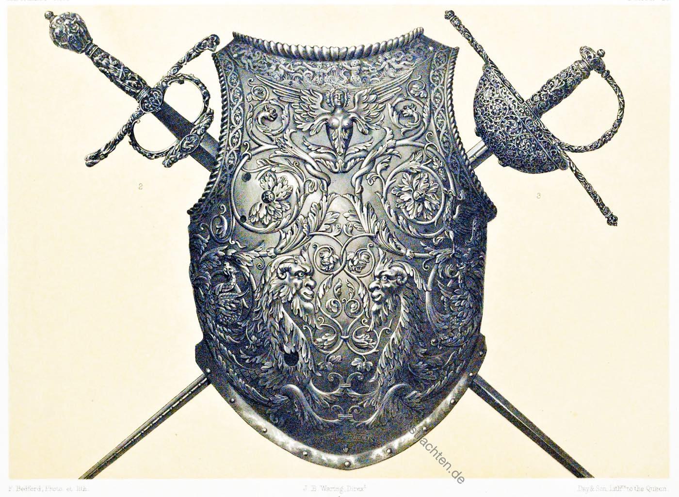Rapiers, Rüstkammer, Brustschild, Waffen, Renaissance, Moritz, Kurfürst, Sachsen, Hiebwaffen