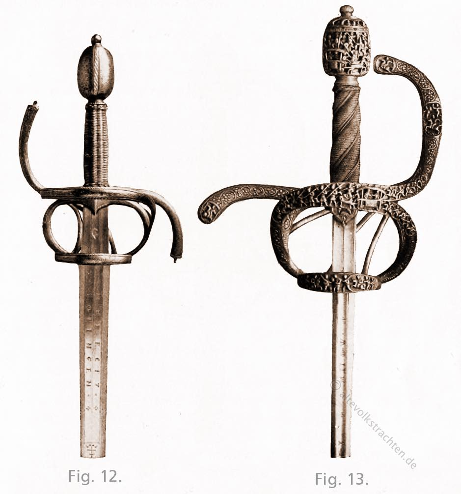 Reitschwert, tauschiert, Rappier,  Solingen, Clemens Horn, Mittelalter, Waffen, Schwerter, Hiebwaffen