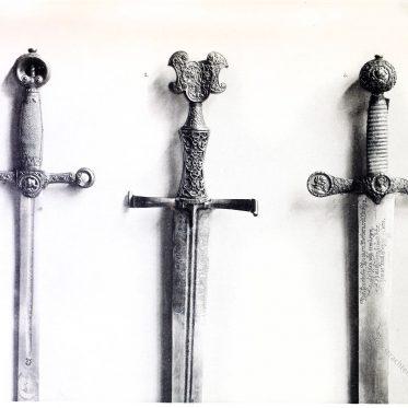 Schwerter der Renaissance. Karl V., Philipp I., Georg von Frundsberg.