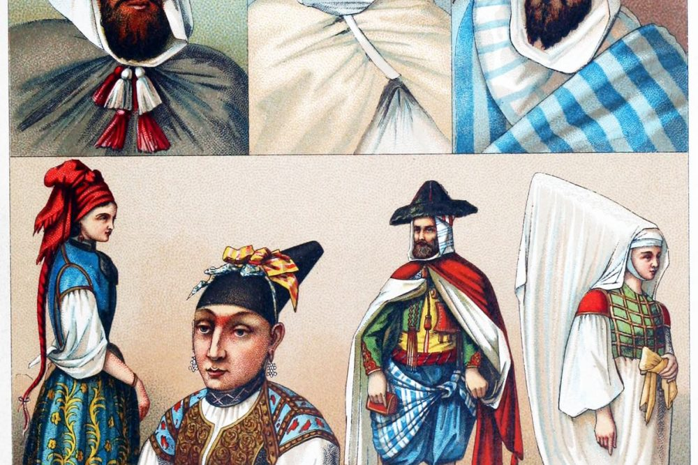 Algier, Algerien, Trachten, Kleidung, Kostüme, Maghreb, Jüdinnen. Berber,