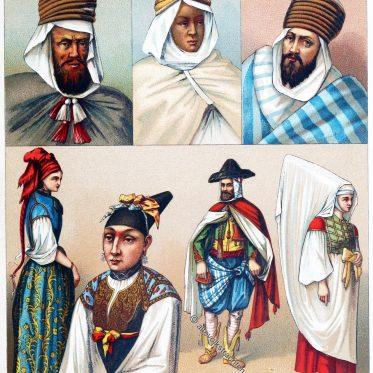 Algerien. Tracht der Berber. Jüdinnen aus Algier. Morisken.