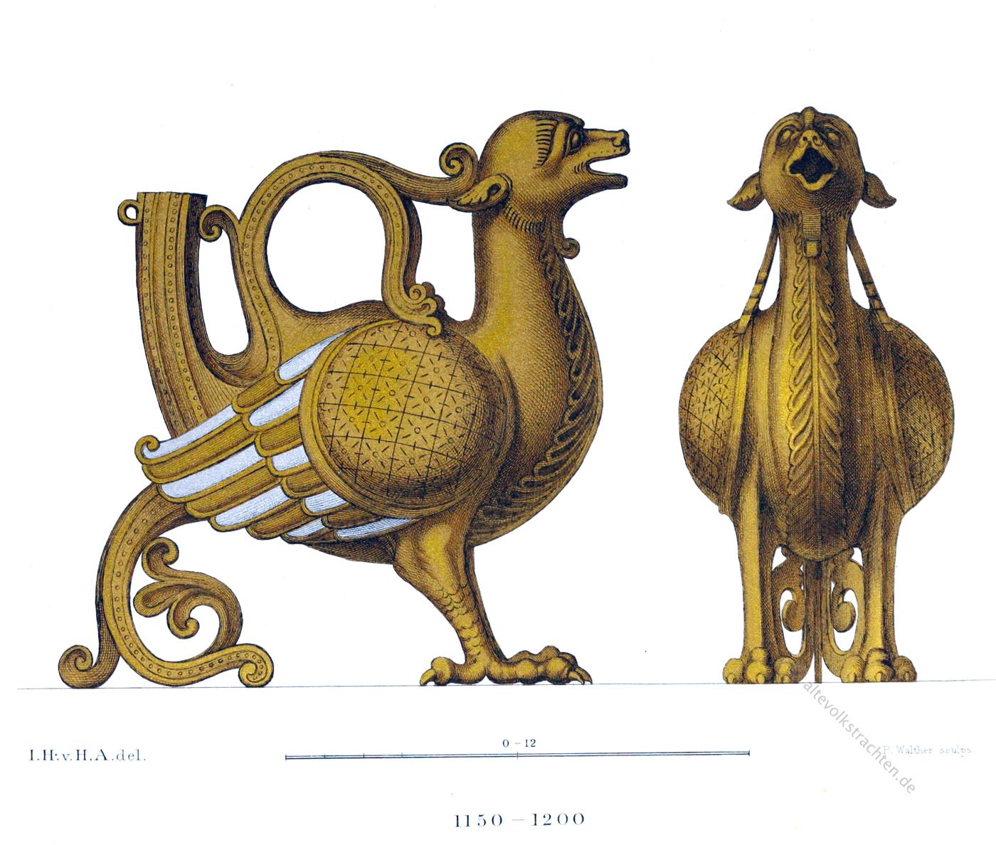 Aquamanile, Liturgie, fantastischen Tierfiguren, Romanik, Gegenstand, Mittelalter Gefäß,