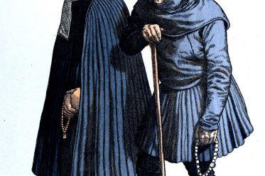 Friedrich Hottenroth, Kostüme, Köln, Renaissance, Bauerntrachten, Bauersleute, Trauerkleidung