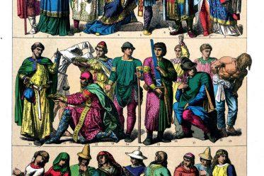 Deutsche, Gewandung, Hochmittelalter, Kleidung, Trachten, Mittelalter