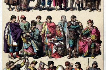 Friedrich Hottenroth, Kleidung, Gewandung, Germanen, Goten, Langobarden, Merowinger, Karolinger
