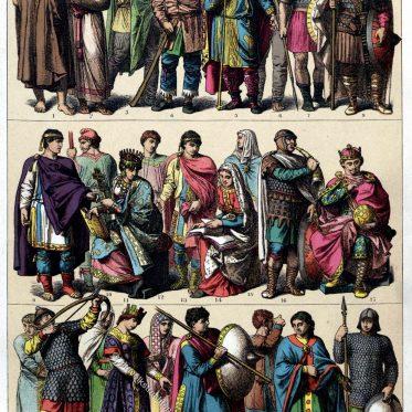 Kleidung der Deutschen Völker bis zum 10. Jahrhundert.