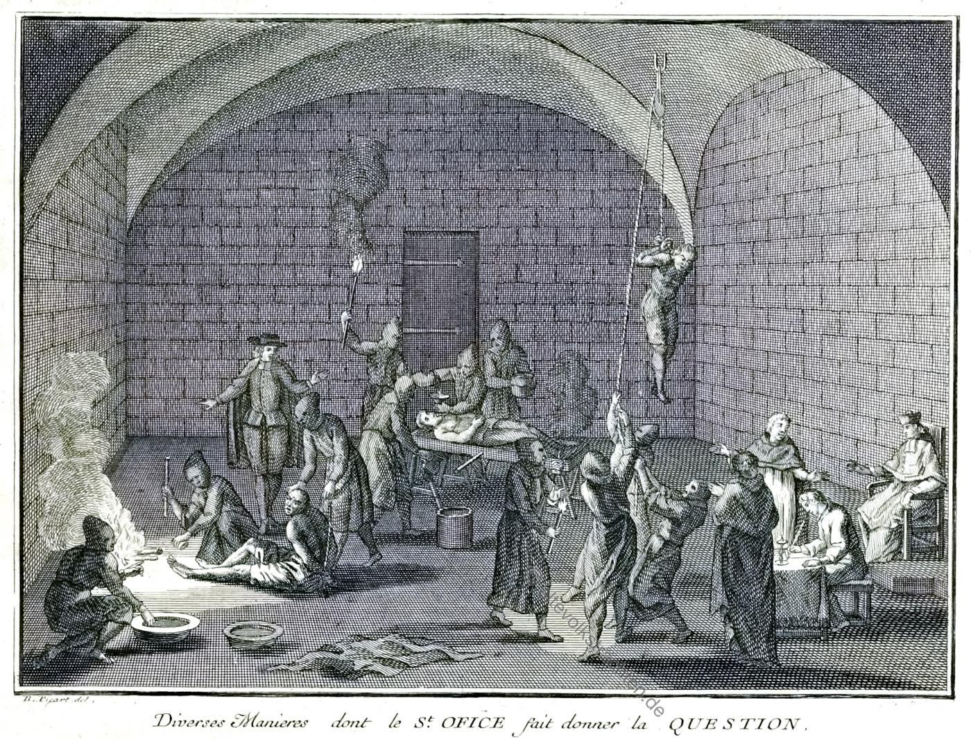 Folter, Inquisition, Priester, Ketzer, Spanien, Picart, Bernard,